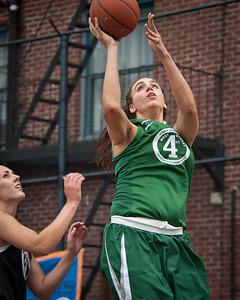 (West 4th St. Women's  Pro-Classic NYC: Dreamteam (Green) 60 v Westchester (Black) 49, William F. Passannante Ballfield, New York, NY. July 16, 2011)