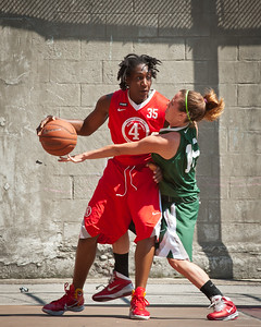 (West 4th St. Women's  Pro-Classic NYC: Dreamteam (Green) 65 v Big East Ballers (Red) 64, William F. Passannante Ballfield, New York, NY. July 30, 2011)