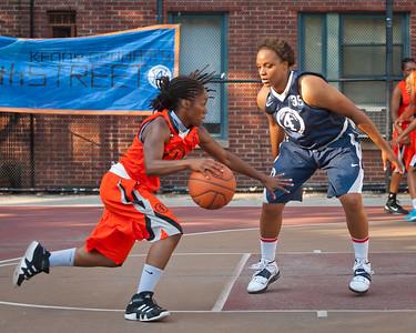 (West 4th St. Women's  Pro-Classic NYC: 29-Next Level (Navy) 56 v Quiet Storm (Orange) 53, William F. Passannante Ballfield, New York, NY. July 31, 2011)