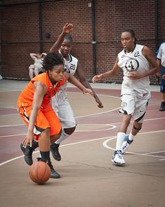 (West 4th St. Women's  Pro-Classic NYC: No Limit (Grey) 57 v Quiet Storm (Orange) 50, William F. Passannante Ballfield, New York, NY. August 13, 2011)