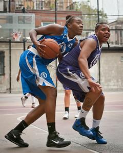 (West 4th St. Women's  Pro-Classic NYC: Brooklyn Express (Blue) 63 v Fastbreak (Purple) 35, William F. Passannante Ballfield, New York, NY. August 13, 2011)