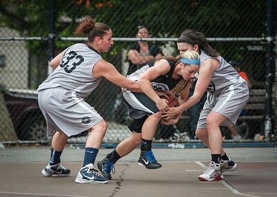 Mary Lepore, Candice Bellochio, Kristen Markoe West 4th Street Women's Pro Classic NYC: Down the Hatch (Black) 65 v The Hawks (Grey) 39, William F. Passannante Ballfield, New York, NY, June 2, 2012