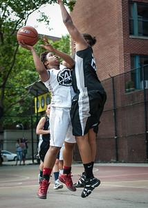 Krista Mitchell, Katilin Grant West 4th Street Women's Pro Classic NYC: Cobra Hustlers (Black) 66 v Lady Falcons (White) 55, William F. Passannante Ballfield, New York, NY, June 2, 2012