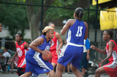 Raygan Plummer, Alicea Ulmer, Beytania Newman West 4th Street Women's Pro Classic NYC: Fastbreak (Red) 61 v Da Bizznezz (Purple) 34, William F. Passannante Ballfield, New York, NY, June 2, 2012