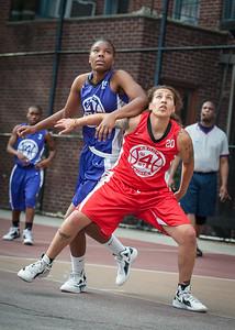 Alicea Ulmer, Nicky Young West 4th Street Women's Pro Classic NYC: Fastbreak (Red) 61 v Da Bizznezz (Purple) 34, William F. Passannante Ballfield, New York, NY, June 2, 2012