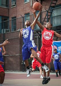 Eyana Thompson, Beytania Newman West 4th Street Women's Pro Classic NYC: Fastbreak (Red) 61 v Da Bizznezz (Purple) 34, William F. Passannante Ballfield, New York, NY, June 2, 2012