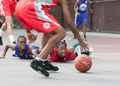 Eyana Thompson, Tonaya Hollis West 4th Street Women's Pro Classic NYC: Fastbreak (Red) 61 v Da Bizznezz (Purple) 34, William F. Passannante Ballfield, New York, NY, June 2, 2012