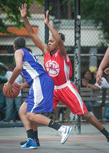 Taylor Ford, CeeCee Rodriguez West 4th Street Women's Pro Classic NYC: Fastbreak (Red) 61 v Da Bizznezz (Purple) 34, William F. Passannante Ballfield, New York, NY, June 2, 2012
