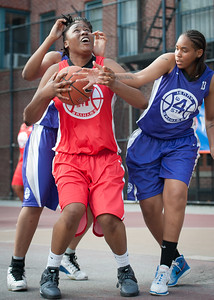 Brittany Webb, CeeCee Rodriguez West 4th Street Women's Pro Classic NYC: Fastbreak (Red) 61 v Da Bizznezz (Purple) 34, William F. Passannante Ballfield, New York, NY, June 2, 2012