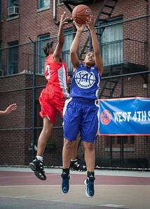 Iyana A., J. Odom West 4th Street Women's Pro Classic NYC: Fastbreak (Red) 61 v Da Bizznezz (Purple) 34, William F. Passannante Ballfield, New York, NY, June 2, 2012