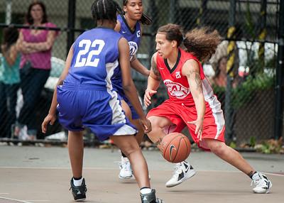Nicky Young, Taj Monroe West 4th Street Women's Pro Classic NYC: Fastbreak (Red) 61 v Da Bizznezz (Purple) 34, William F. Passannante Ballfield, New York, NY, June 2, 2012