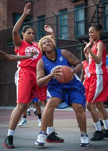 Raygan Plummer, Crystal Rushin  West 4th Street Women's Pro Classic NYC: Fastbreak (Red) 61 v Da Bizznezz (Purple) 34, William F. Passannante Ballfield, New York, NY, June 2, 2012