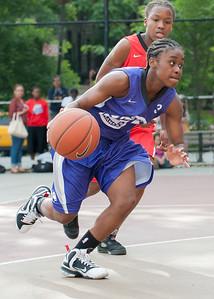 Eyana Thompson  West 4th Street Women's Pro Classic NYC: Fastbreak (Red) 61 v Da Bizznezz (Purple) 34, William F. Passannante Ballfield, New York, NY, June 2, 2012