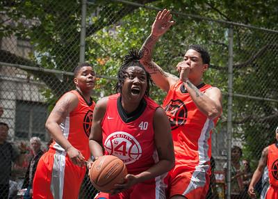 "Brittany Webb West 4th Street Women's Pro Classic NYC: Deuce Trey (Orange) 52 v Fastbreak (Red) 44, ""The Cage"", New York, NY, June 3, 2012"