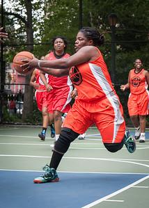 "Lawanda Greene West 4th Street Women's Pro Classic NYC: Deuce Trey (Orange) 52 v Fastbreak (Red) 44, ""The Cage"", New York, NY, June 3, 2012"