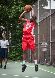 "Takima Lucky West 4th Street Women's Pro Classic NYC: Deuce Trey (Orange) 52 v Fastbreak (Red) 44, ""The Cage"", New York, NY, June 3, 2012"
