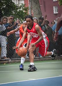 "J. Odom West 4th Street Women's Pro Classic NYC: Deuce Trey (Orange) 52 v Fastbreak (Red) 44, ""The Cage"", New York, NY, June 3, 2012"