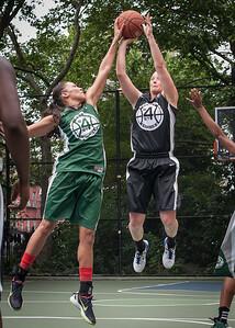 "Maria Clifton, Nicole Kazmarski West 4th Street Women's Pro Classic NYC: Exodus NYC Apache (Green) 50 v Cobra Hustlers (Black) 39, ""The Cage"", New York, NY, June 9, 2012"