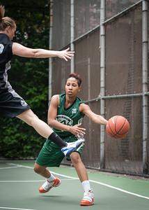 "Erica Morrow West 4th Street Women's Pro Classic NYC: Exodus NYC Apache (Green) 50 v Cobra Hustlers (Black) 39, ""The Cage"", New York, NY, June 9, 2012"
