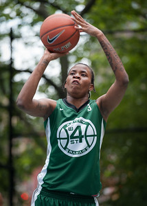 "Tiffany Jones West 4th Street Women's Pro Classic NYC: Exodus NYC Apache (Green) 50 v Cobra Hustlers (Black) 39, ""The Cage"", New York, NY, June 9, 2012"