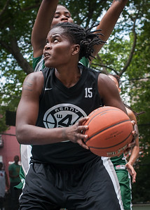 "Delmara Reece West 4th Street Women's Pro Classic NYC: Exodus NYC Apache (Green) 50 v Cobra Hustlers (Black) 39, ""The Cage"", New York, NY, June 9, 2012"