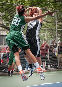 "Chris Marrone, Erica Morrow West 4th Street Women's Pro Classic NYC: Exodus NYC Apache (Green) 50 v Cobra Hustlers (Black) 39, ""The Cage"", New York, NY, June 9, 2012"