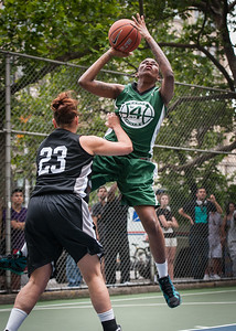 "Maria Lepore, Tiffany Jones West 4th Street Women's Pro Classic NYC: Exodus NYC Apache (Green) 50 v Cobra Hustlers (Black) 39, ""The Cage"", New York, NY, June 9, 2012"