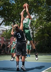 "Chris Marrone, Charisse Johnson West 4th Street Women's Pro Classic NYC: Exodus NYC Apache (Green) 50 v Cobra Hustlers (Black) 39, ""The Cage"", New York, NY, June 9, 2012"