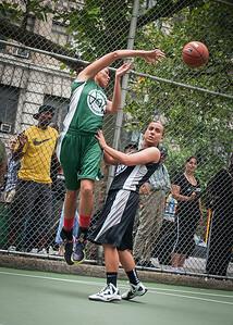 "Maria Clifton, Chris Marrone West 4th Street Women's Pro Classic NYC: Exodus NYC Apache (Green) 50 v Cobra Hustlers (Black) 39, ""The Cage"", New York, NY, June 9, 2012"