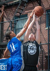 Maurita Reid, Monica Morales West 4th Street Women's Pro Classic NYC: Primetime (Blue) 58 v Down the Hatch (Black) 52, William F. Passannante Ballfield, New York, NY, June 9, 2012