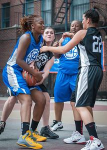 Leeah Thomas, Meghan Mahoney West 4th Street Women's Pro Classic NYC: Primetime (Blue) 58 v Down the Hatch (Black) 52, William F. Passannante Ballfield, New York, NY, June 9, 2012