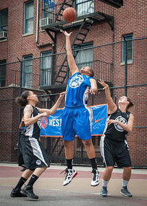 Jasmin Jones, Dana Wynne, Kerri White West 4th Street Women's Pro Classic NYC: Primetime (Blue) 58 v Down the Hatch (Black) 52, William F. Passannante Ballfield, New York, NY, June 9, 2012