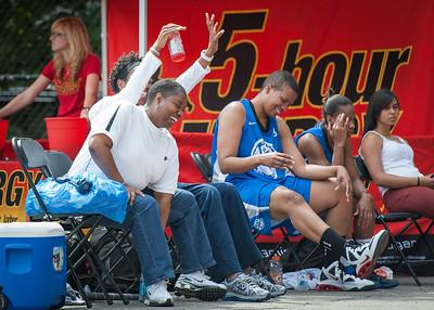 Stephanie Stanley, Gail Bryant, Dana Wynne, Bianca Brown West 4th Street Women's Pro Classic NYC: Primetime (Blue) 58 v Down the Hatch (Black) 52, William F. Passannante Ballfield, New York, NY, June 9, 2012