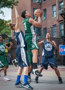 Dakara Spence, Shenee Clarke, Briana Brown West 4th Street Women's Pro Classic NYC: Quiet Storm (Green) 50 v Impulse (Navy) 36, William F. Passannante Ballfield, New York, NY, June 9, 2012
