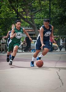 Shenee Clarke, Sarrisa Gaskins West 4th Street Women's Pro Classic NYC: Quiet Storm (Green) 50 v Impulse (Navy) 36, William F. Passannante Ballfield, New York, NY, June 9, 2012