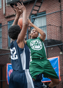 "Janejellica ""JJ"" Johnson, Ann Barrino West 4th Street Women's Pro Classic NYC: Quiet Storm (Green) 50 v Impulse (Navy) 36, William F. Passannante Ballfield, New York, NY, June 9, 2012"
