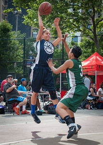Dakara Spence, Shenee Clarke West 4th Street Women's Pro Classic NYC: Quiet Storm (Green) 50 v Impulse (Navy) 36, William F. Passannante Ballfield, New York, NY, June 9, 2012