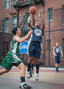 Janera Johnson, Shenee Clarke West 4th Street Women's Pro Classic NYC: Quiet Storm (Green) 50 v Impulse (Navy) 36, William F. Passannante Ballfield, New York, NY, June 9, 2012