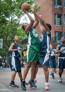 "Briana Brown, Candice Abbelard, Janejellica ""JJ"" Johnson West 4th Street Women's Pro Classic NYC: Quiet Storm (Green) 50 v Impulse (Navy) 36, William F. Passannante Ballfield, New York, NY, June 9, 2012"