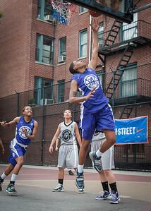 Jonyce Hollins West 4th Street Women's Pro Classic NYC: Run N Shoot (Purple) 80 v The Hawks (Grey) 33, William F. Passannante Ballfield, New York, NY, June 9, 2012