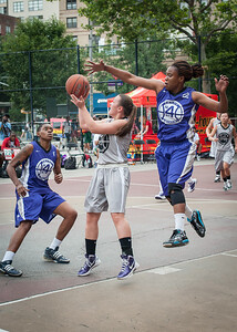 Nicole Lenard, Stefanie Bingham West 4th Street Women's Pro Classic NYC: Run N Shoot (Purple) 80 v The Hawks (Grey) 33, William F. Passannante Ballfield, New York, NY, June 9, 2012