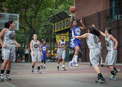 Lou-lou Hayes West 4th Street Women's Pro Classic NYC: Run N Shoot (Purple) 80 v The Hawks (Grey) 33, William F. Passannante Ballfield, New York, NY, June 9, 2012