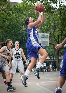 Ariel Smith West 4th Street Women's Pro Classic NYC: Run N Shoot (Purple) 80 v The Hawks (Grey) 33, William F. Passannante Ballfield, New York, NY, June 9, 2012