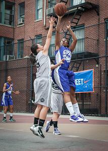 Carolyn Kweon, Lou-lou Hayes West 4th Street Women's Pro Classic NYC: Run N Shoot (Purple) 80 v The Hawks (Grey) 33, William F. Passannante Ballfield, New York, NY, June 9, 2012
