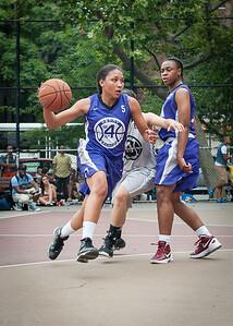 Ariel Smith, Stephany Neptune West 4th Street Women's Pro Classic NYC: Run N Shoot (Purple) 80 v The Hawks (Grey) 33, William F. Passannante Ballfield, New York, NY, June 9, 2012