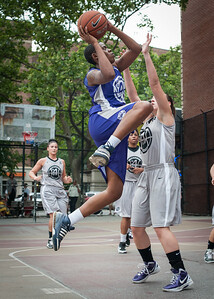 Jonyce Hollins, Nicole Lenard West 4th Street Women's Pro Classic NYC: Run N Shoot (Purple) 80 v The Hawks (Grey) 33, William F. Passannante Ballfield, New York, NY, June 9, 2012
