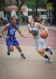 Toni-Ann Lawrence, Nicole Lenard West 4th Street Women's Pro Classic NYC: Run N Shoot (Purple) 80 v The Hawks (Grey) 33, William F. Passannante Ballfield, New York, NY, June 9, 2012