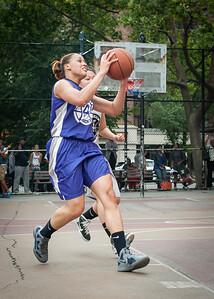 Thanzina Cook West 4th Street Women's Pro Classic NYC: Run N Shoot (Purple) 80 v The Hawks (Grey) 33, William F. Passannante Ballfield, New York, NY, June 9, 2012
