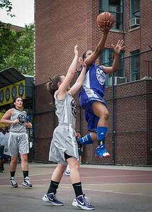 Nicole Lenard, Dawn Coleman West 4th Street Women's Pro Classic NYC: Run N Shoot (Purple) 80 v The Hawks (Grey) 33, William F. Passannante Ballfield, New York, NY, June 9, 2012