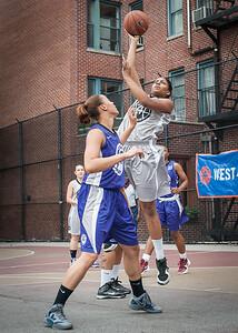 Thanzina Cook, Alease Vaughan West 4th Street Women's Pro Classic NYC: Run N Shoot (Purple) 80 v The Hawks (Grey) 33, William F. Passannante Ballfield, New York, NY, June 9, 2012